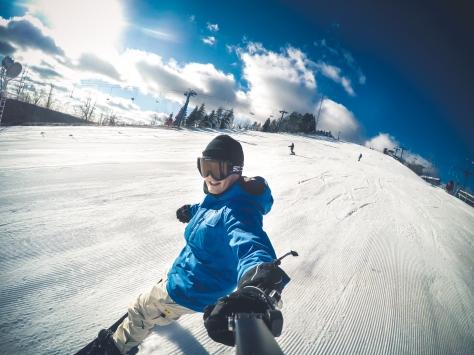 GoPro Hero 4 black snowboarding