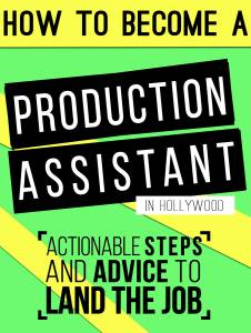 how to land a production assistant job in the film industry, Cephalic Vein